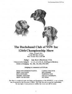 The Dachshund Club of NSW 126th & 127th Championship Shows